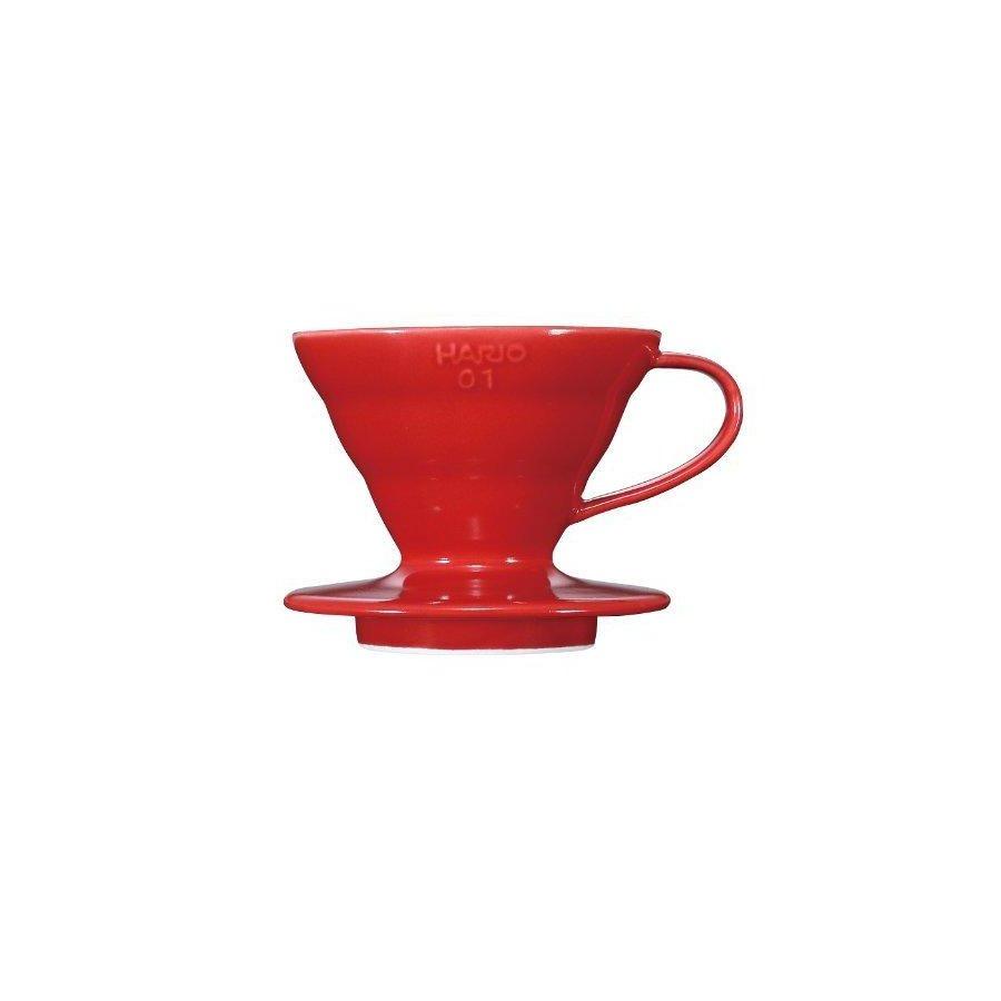 Dripper Hario V60-01 keramický červený