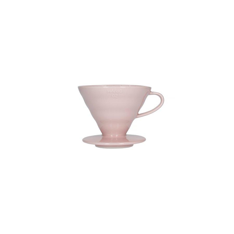Dripper Hario V60-02 keramický růžový
