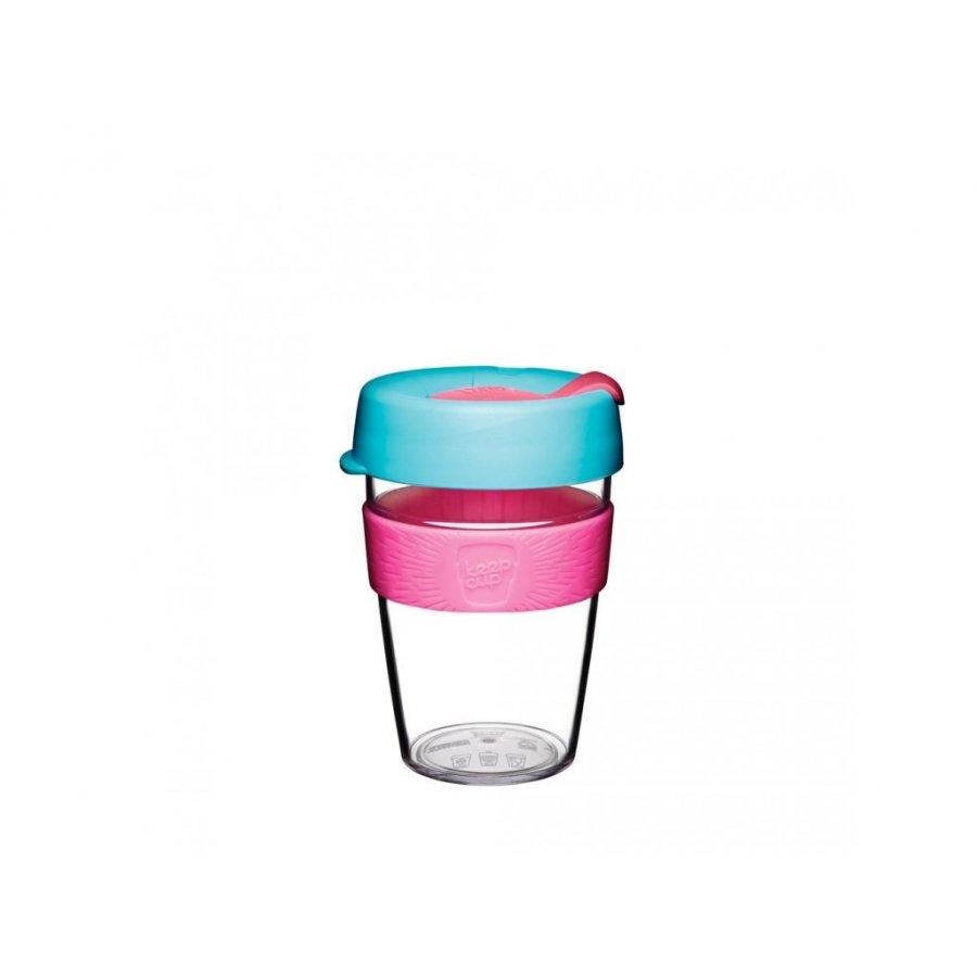 Keepcup Clear s růžovým držákem 0,34l
