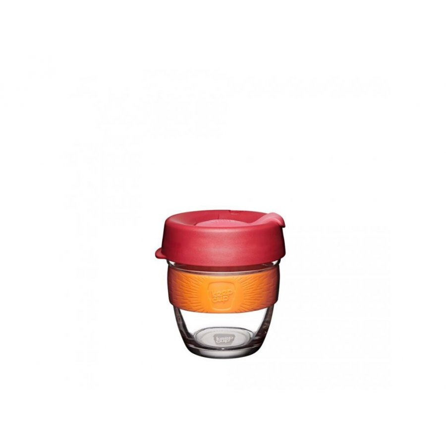 Keepcup skleněný s oranžovým držákem 0,227l
