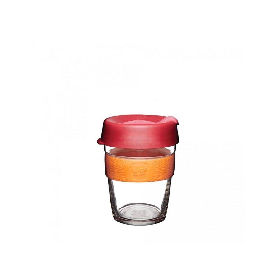 Keepcup skleněný s oranžovým držákem 0,34l